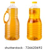Big Bottles Sunflower Oil Isolated - Fine Art prints