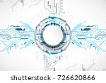 vector illustration  hi tech... | Shutterstock .eps vector #726620866