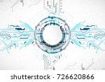 vector illustration  hi tech... | Shutterstock .eps vector #726620866