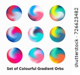 liquid color covers set. fluid... | Shutterstock .eps vector #726623482