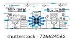 office floor air conditioner... | Shutterstock .eps vector #726624562