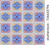 vector vintage pattern design ... | Shutterstock .eps vector #726633796