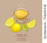 cup of lemon tea on color... | Shutterstock .eps vector #726642118