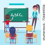 bright vector image of school... | Shutterstock .eps vector #726644536