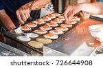 thai crispy pancake making   Shutterstock . vector #726644908