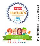 happy teacher's day postcard... | Shutterstock .eps vector #726645115