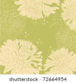 background with chrysanthemums...