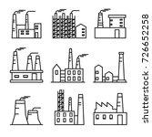 industrial buildings thin line...   Shutterstock .eps vector #726652258