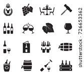wine icons. black flat design.... | Shutterstock .eps vector #726653362