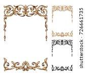 classical baroque vector set of ... | Shutterstock .eps vector #726661735