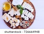 cheese platter  parmesan ... | Shutterstock . vector #726664948