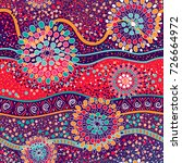 colorful decorative pattern.... | Shutterstock . vector #726664972
