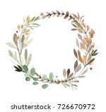 herb watercolor green circle...   Shutterstock . vector #726670972