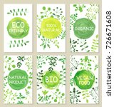 set of eco friendly labels... | Shutterstock .eps vector #726671608
