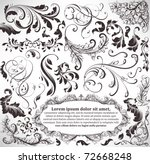 vector set  calligraphic design ... | Shutterstock .eps vector #72668248