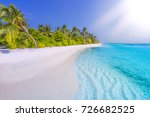 tropical beach nature landscape.... | Shutterstock . vector #726682525