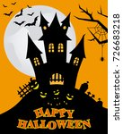 happy halloween | Shutterstock .eps vector #726683218