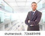 happy business man portrait at... | Shutterstock . vector #726685498