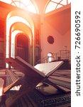 quran in the mosque   open for...   Shutterstock . vector #726690592