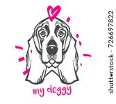 vector hand drawn typography... | Shutterstock .eps vector #726697822
