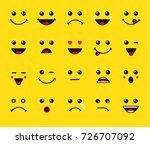 set of emoticons or emoji... | Shutterstock .eps vector #726707092