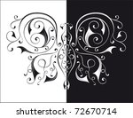 black and white butterfly | Shutterstock .eps vector #72670714