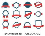 vector set badge  ribbons  and  ... | Shutterstock .eps vector #726709732