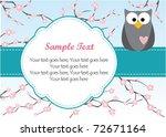 cute owl on branch | Shutterstock .eps vector #72671164