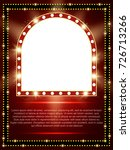 poster template with retro... | Shutterstock .eps vector #726713266