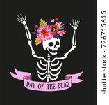 Skeleton In The Floral Wreath....