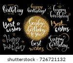 happy birthday   best wishes....   Shutterstock .eps vector #726721132