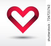 shiny red heart icon or logo... | Shutterstock .eps vector #726721762