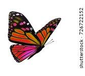 beautiful colorful monarch...   Shutterstock . vector #726722152