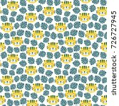 tiger seamless pattern with... | Shutterstock .eps vector #726727945