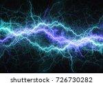 blue plasma lightning  abstract ... | Shutterstock . vector #726730282