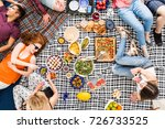 vegan food  holidays  leisure... | Shutterstock . vector #726733525