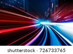 motion speed visual effect with ... | Shutterstock . vector #726733765