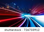 motion speed visual effect with ... | Shutterstock . vector #726733912
