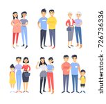 set of different couples and... | Shutterstock .eps vector #726736336