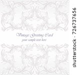 invitation card vector. royal... | Shutterstock .eps vector #726737656