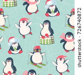 seamless pattern with cute... | Shutterstock .eps vector #726740872
