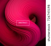 Abstract vector background with 3d pink squeezed liquid shape. Pink twisted viscous substance. Cover or poster design template