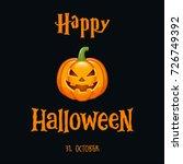 happy halloween invitation card | Shutterstock .eps vector #726749392