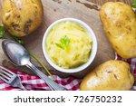mashed potato | Shutterstock . vector #726750232