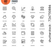 simple set of finance related... | Shutterstock .eps vector #726750886