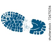 hiking boot clip art track with ... | Shutterstock .eps vector #72675256