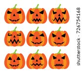 pumpkins set of icons with jack ... | Shutterstock .eps vector #726754168