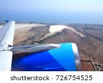 take off from larnaca airport ... | Shutterstock . vector #726754525