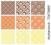 a set of nine seamlessly tiling ... | Shutterstock .eps vector #72675889