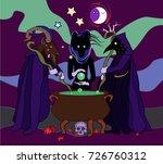 Halloween Witchcraft. Three...